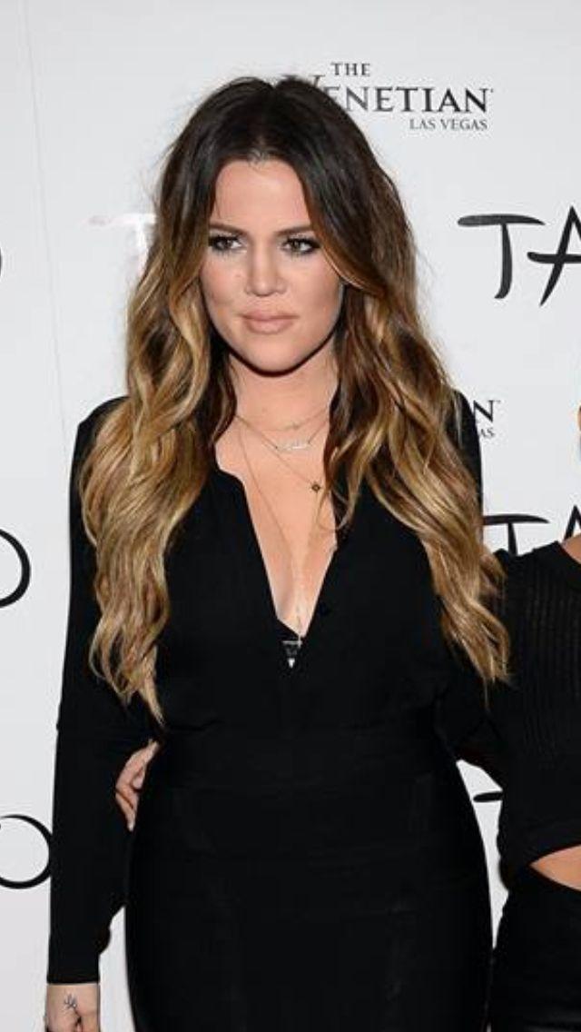 Brunette california style hair kardashian