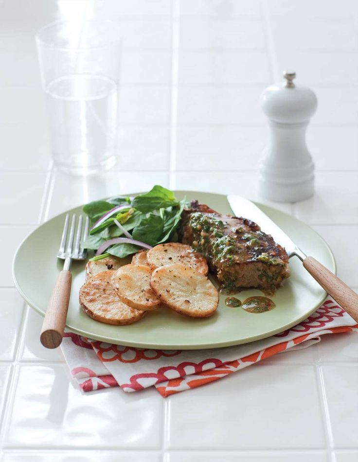 Steak with chimichurri sauce by Michele Curtis from What's For Dinner? | Cooked