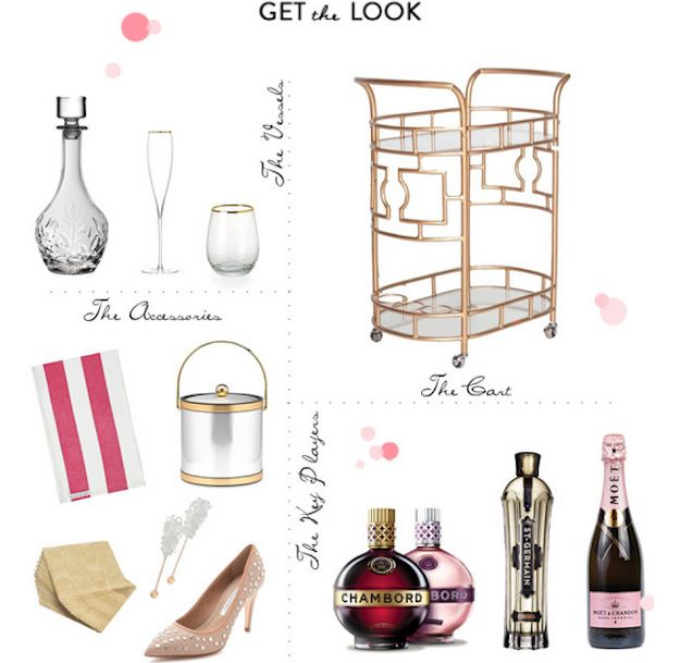The social diary how to style a bar cart with mrs lilien and style me
