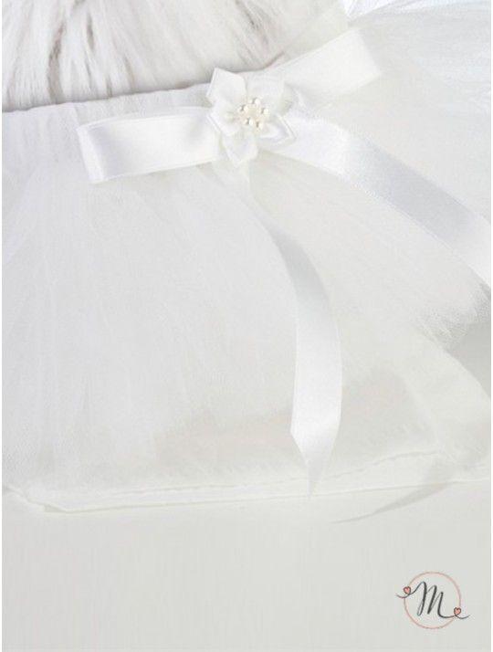 Tutù bianco per cane. Originale e divertente idea da utilizzare se il vostro cagnolino sarà presente alle vostre nozze. Tutù bianco con fiocchetto. Misure: da 25,4 a 45,7 cm. #matrimonio #ideasforwedding #weddingideas #dogs #cats #pets #accessoripercani #wedding #tutù #tutùbianco