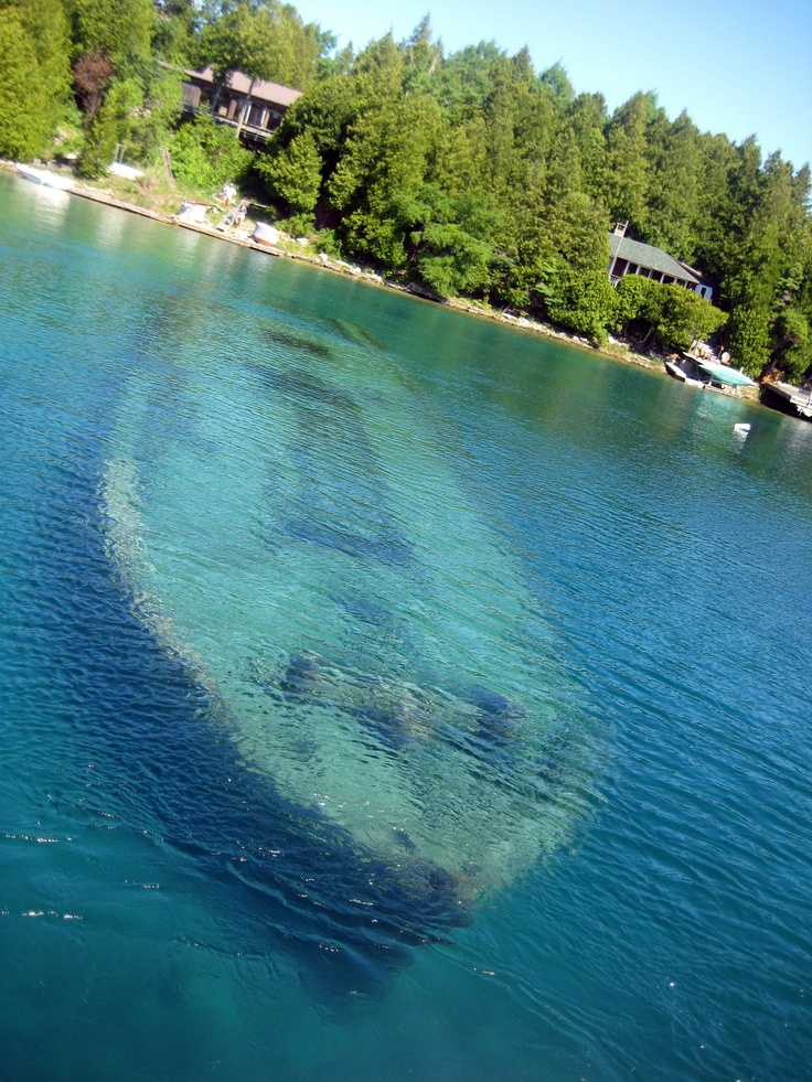 Tobermory, Ontario. Sunken Ship in Big Tub Harbour