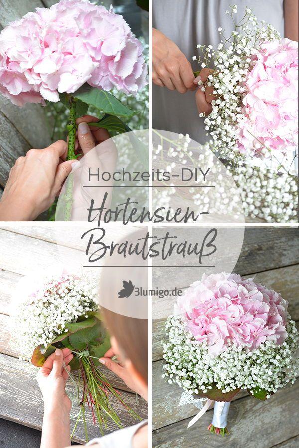 Hydrangea bruidsboeket maak jezelf: in 5 stappen naar het hoofdaccessoire …  – Hochzeit – Hortensien