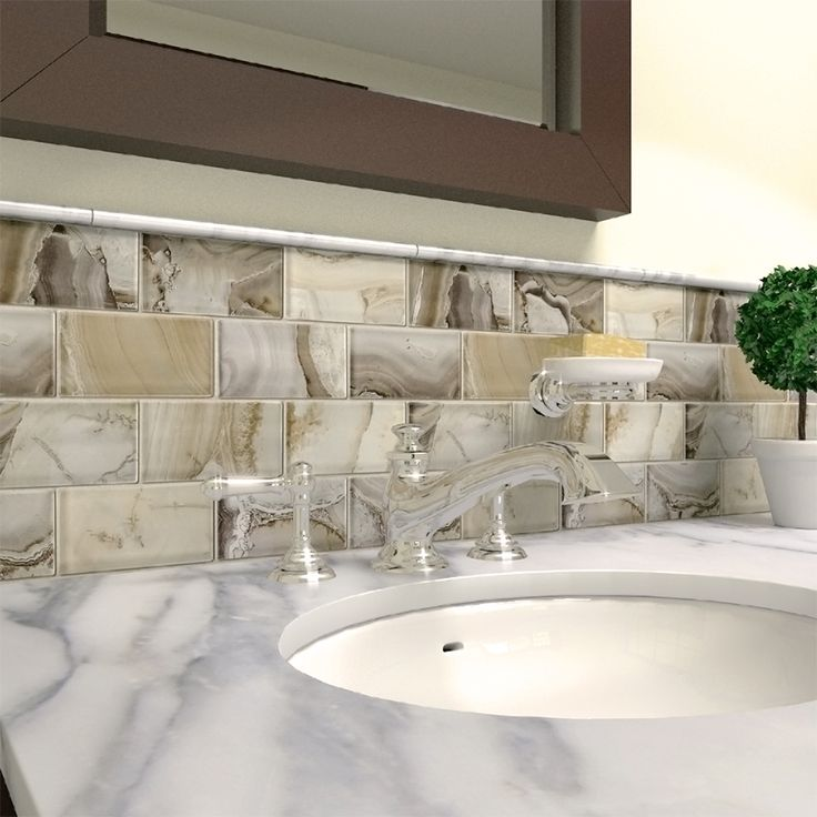 Shop Elida Ceramica Volcanic Essence Glass Mosaic Subway