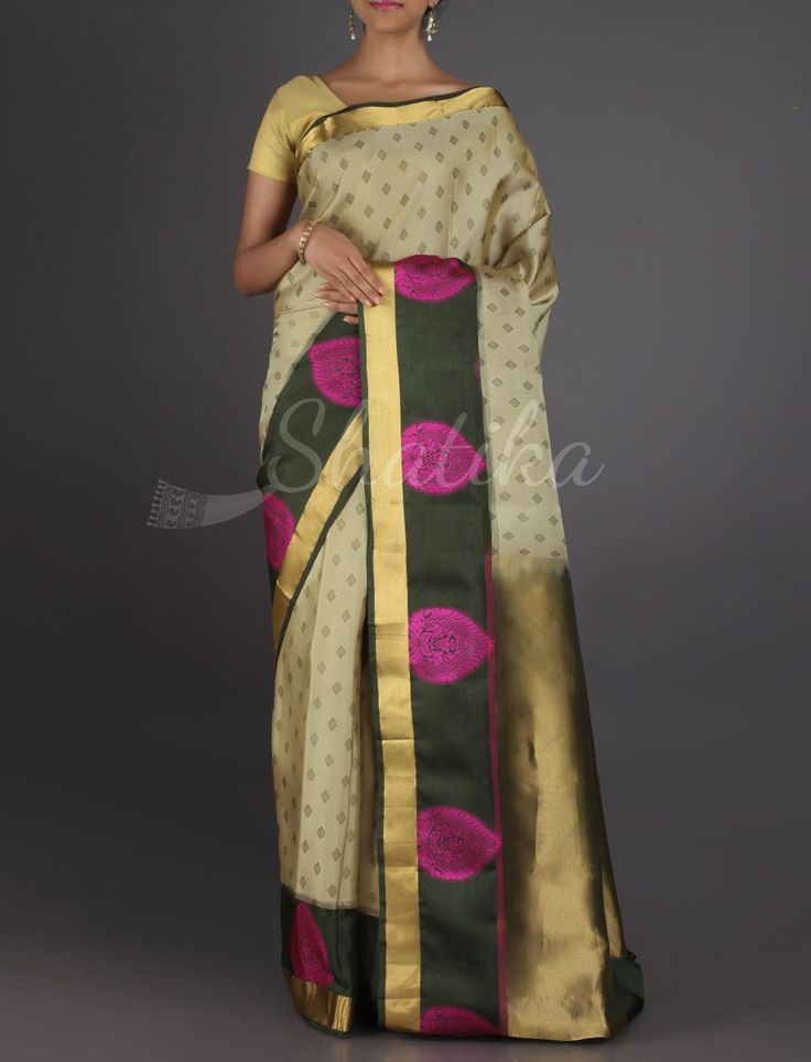 Keerti Small Bootis Bold Motif On Border #ArniSilkSaree