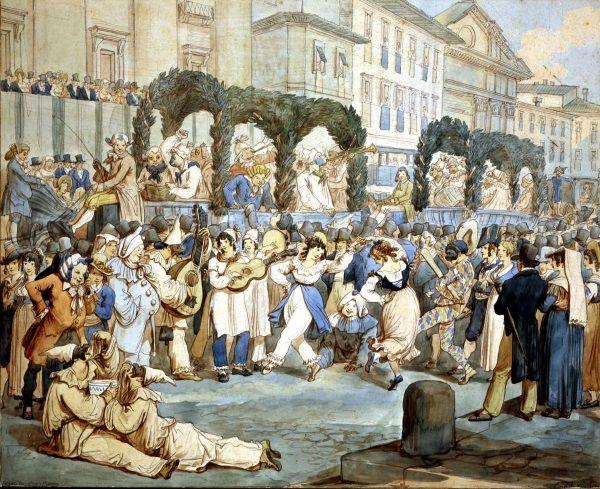 Scena carnevalesca presso San Carlo al Corso / Grafica / Route by subject - Museo di Roma