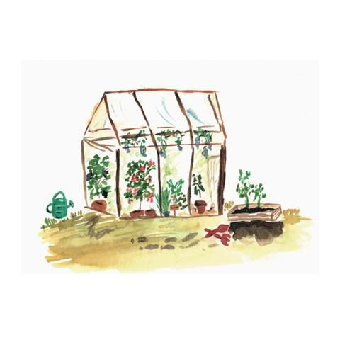 Greenhouse greeting card by NUNUCO® #nunucodesign