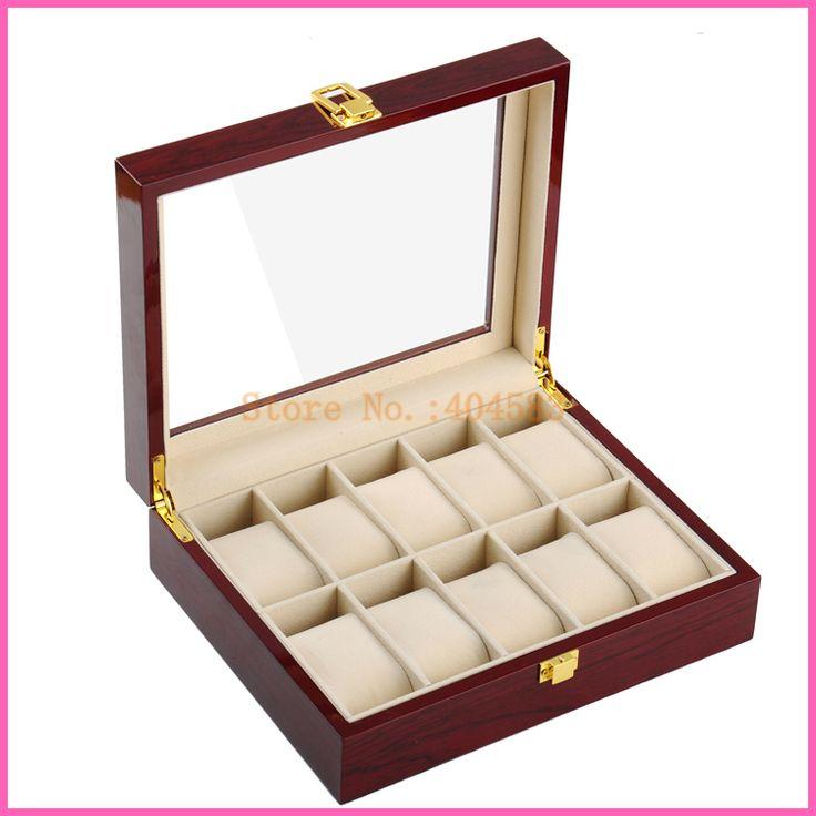 11€ 10 fente laque piano boîte de montre en bois avec des oreillers dans Bijoux Packaging & Display de Bijoux et Accessoires sur AliExpress.com | Alibaba Group