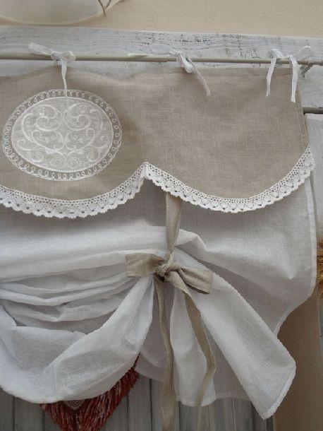drappeggio tenda lino