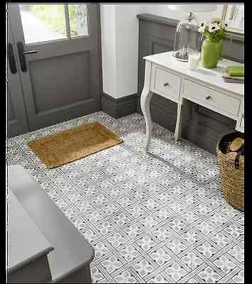 LAURA ASHLEY VICTORIAN STYLE MR JONES BLACK & WHITE CERAMIC FLOOR TILES - Per m2 in Home, Furniture & DIY, DIY Materials, Flooring & Tiles | eBay!