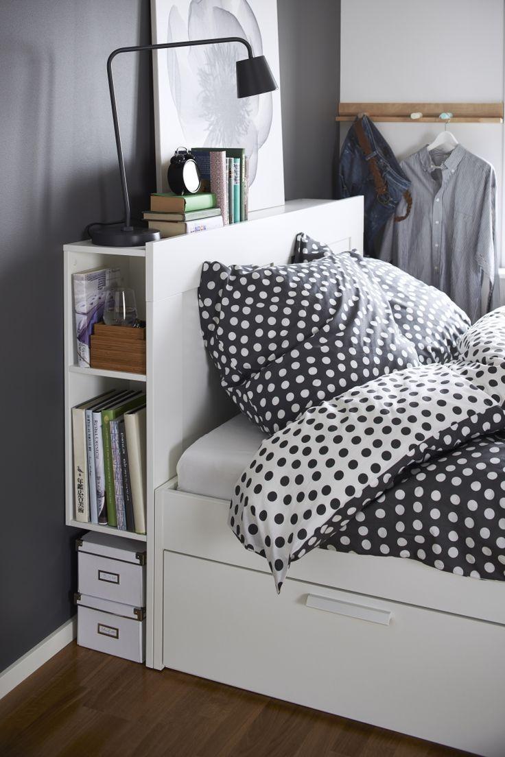 BRIMNES hoofdeinde | WIN! Stel jouw favoriete slaap- en badkamer samen. Het mooiste bord laten we tot leven komen in IKEA Amsterdam. De winnaar wint ook een IKEA cadeaupas t.w.v. 2.500.- #IKEAcatalogus