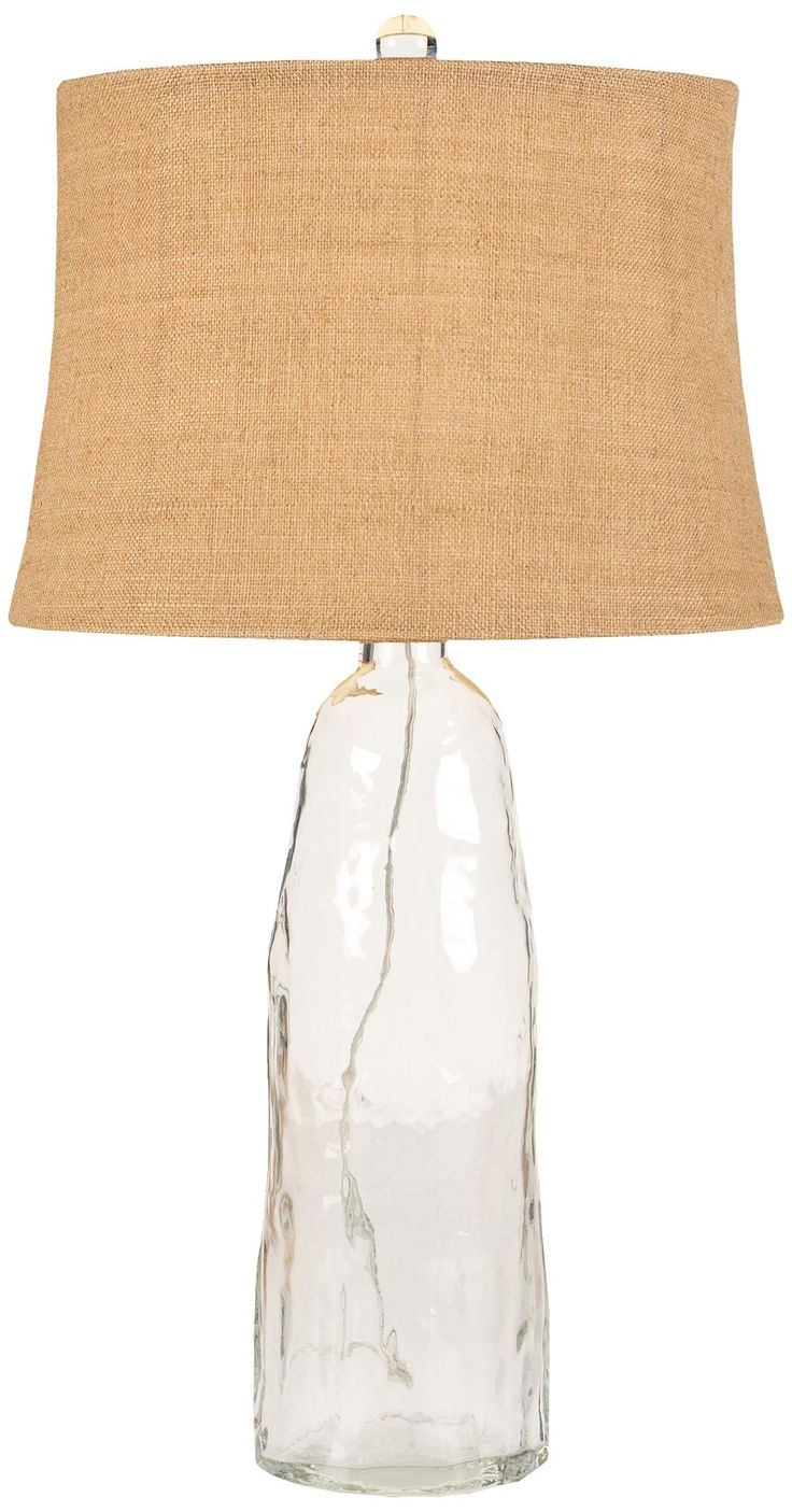Pottery barn clift glass lamp ebay - Cocar Clear Glass Table Lamp