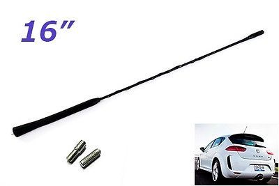 """16"""" car #antenna replacement am fm radio #screw on roof aerial mast #spiral whip ,  View more on the LINK: http://www.zeppy.io/product/gb/2/222308807148/"""