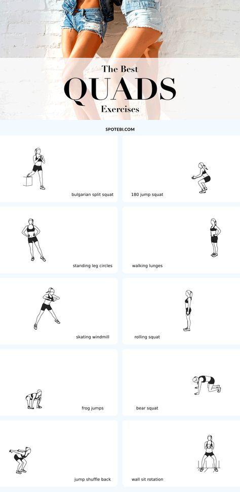 The best exercises for long, lean and toned quads! To get lean thighs and improve the shape and tone of the quads we need to mix high-intensity cardio moves with the best strength exercises. Add the following 10 moves to your workout schedule to build long and lean quads, gain strength and lose fat! https://www.spotebi.com/fitness-tips/best-quads-exercises-long-lean-toned/