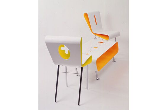 FloGlo 1&2 Chairs and Table 1997