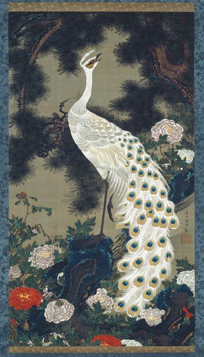 by Jakuchu Ito, Japan 老松孔雀図