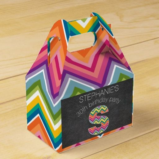 Wedding Gift Letter Box : Chevrons Wedding Favor Box Party Favor, samples, wine gift boxes ...