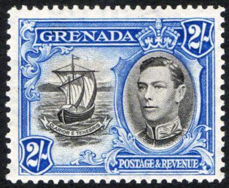 Stamp GRENADA 1943 (w. King Georg VI.)