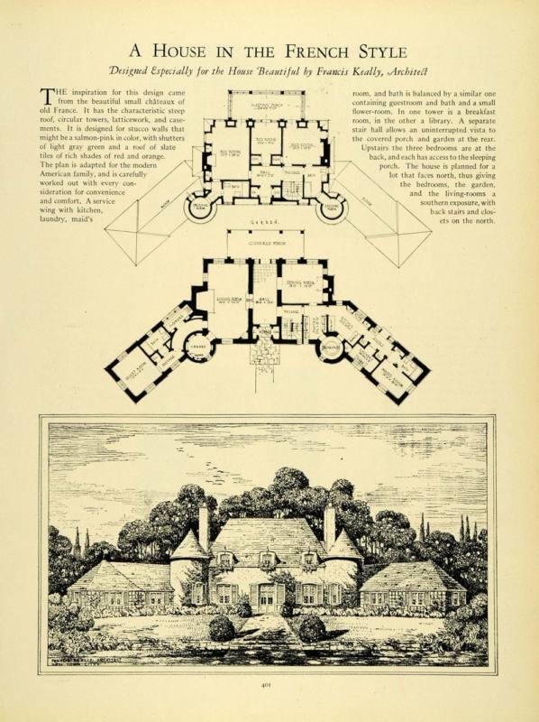 french style architecural floor plans