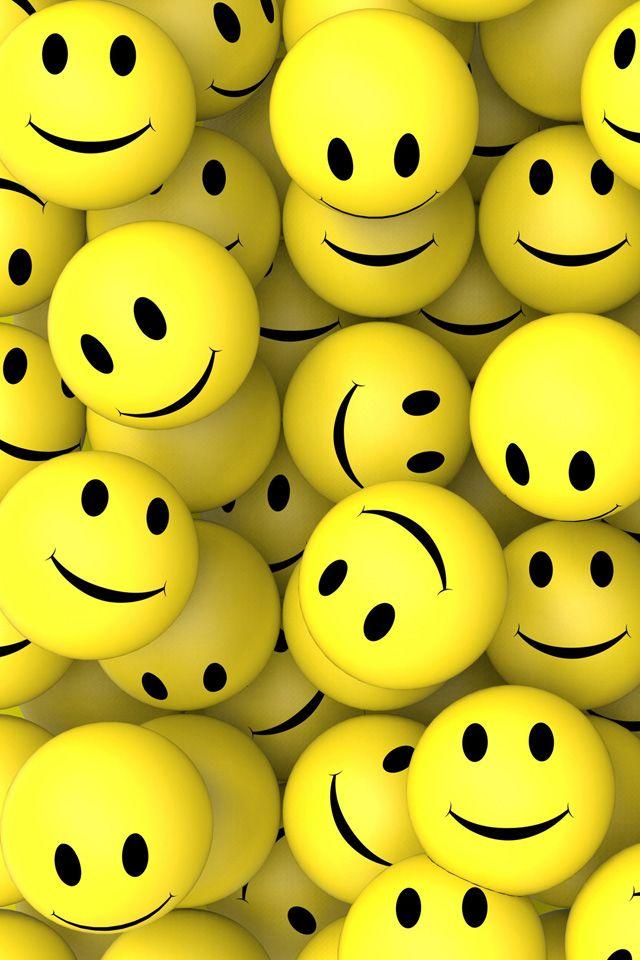 3D Smileys. #smileys #smile #iphone #wallpaper