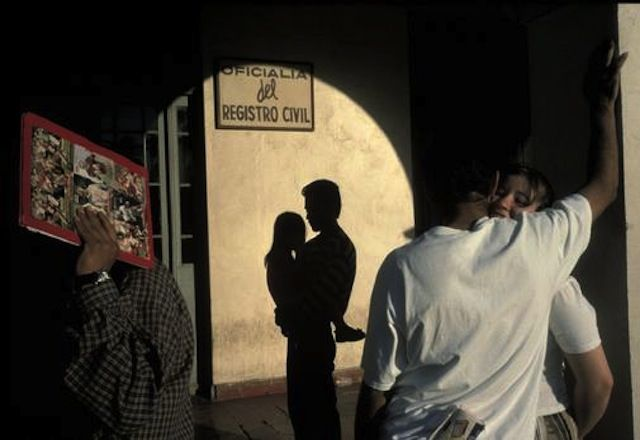 Alex Webb  this image was very interesting because the shadows make it confusing, and questions the ready to really see what is going on and who is who