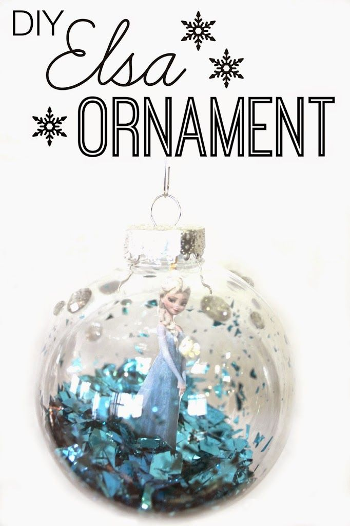 diy frozen christmas ornament easy and cute project - Frozen Christmas Tree Ornaments