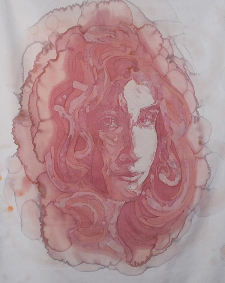 Portretten gemaakt van wijnvlekken