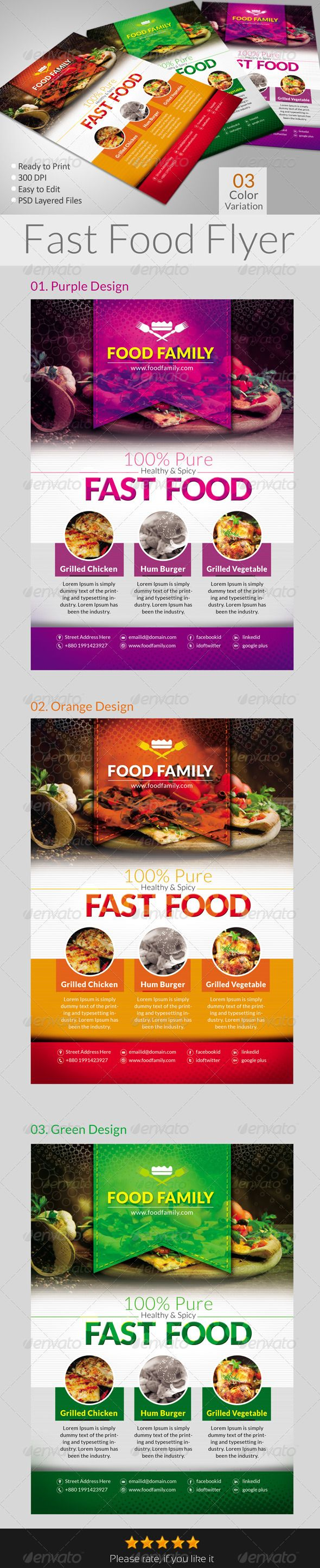 Fast Food Flyers - Restaurant Flyers