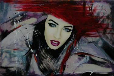 "Saatchi Art Artist David Scholes; Painting, ""La Tempestad  ""Fire"""" #art"