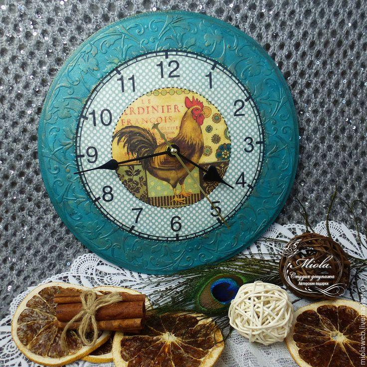 """Купить Часы """"Время для счастливых моментов"""" - Декупаж, авторские подарки, часы, настенные часы, винтаж"""
