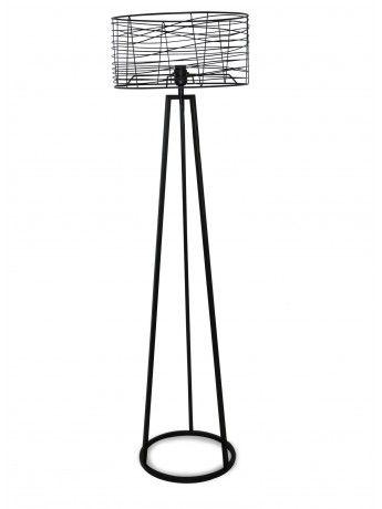 Albert Black Floor Lamp 159cm x 46cm
