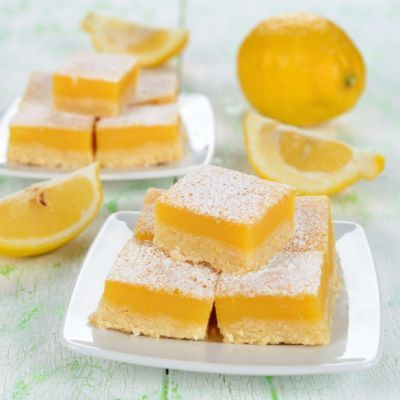Layered No-Bake Lemon Bars