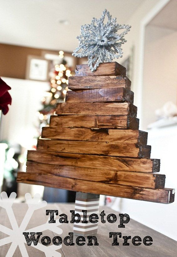 Have leftover wood scraps from your latest crafting project? Use those pieces to create this holiday ready wooden tree.