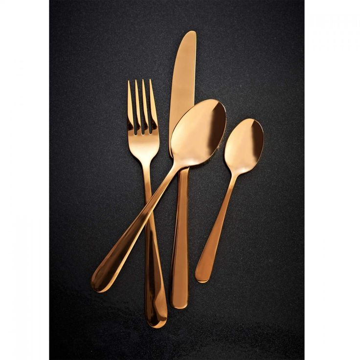Viners Exclusive 16 Piece Stainless Steel Cutlery Set - Rose Gold