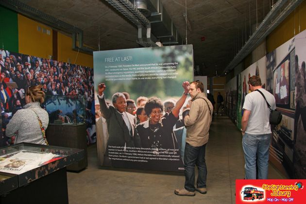 Nelson Mandela was an integral part in the downfall of Apartheid and you can view his role in a temporary exhibit. http://www.citysightseeing.co.za/ApartheidMuseum.php