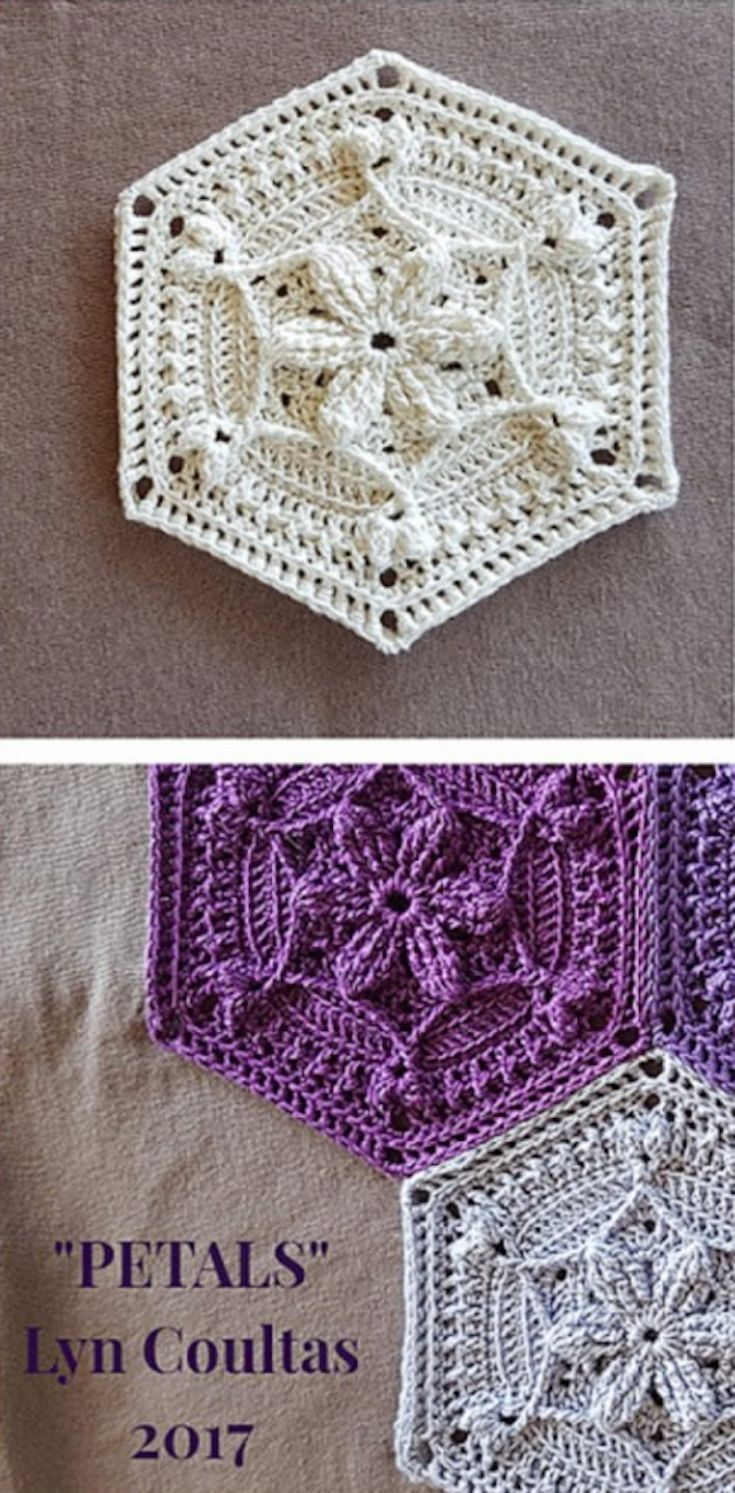 I WISH I WAS HALF AS TALENTED TO PULL THIS ONE OFF! IT'S ABSOLUTELY STUNNING! / [Free Crochet Pattern] Adorable Pattern For A Hexagon Shaped Motif