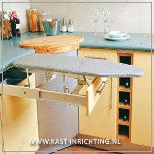Strijkplank om in te bouwen in een kast of lade.-kast-inrichting.nl