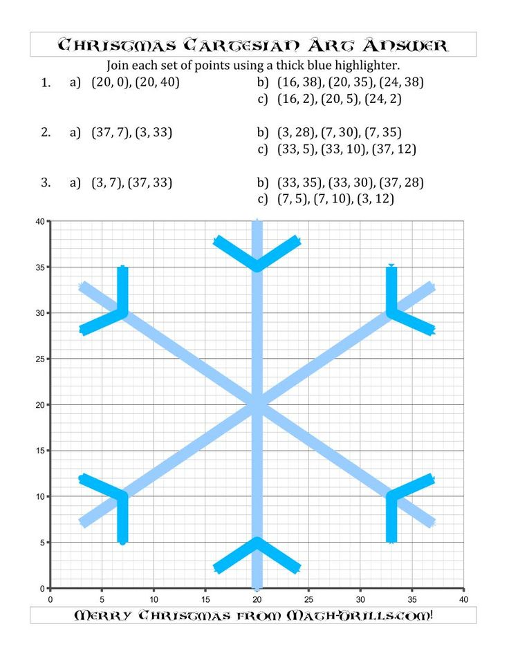a symmetrical christmas cartesian art snowflake b for december new math worksheet. Black Bedroom Furniture Sets. Home Design Ideas