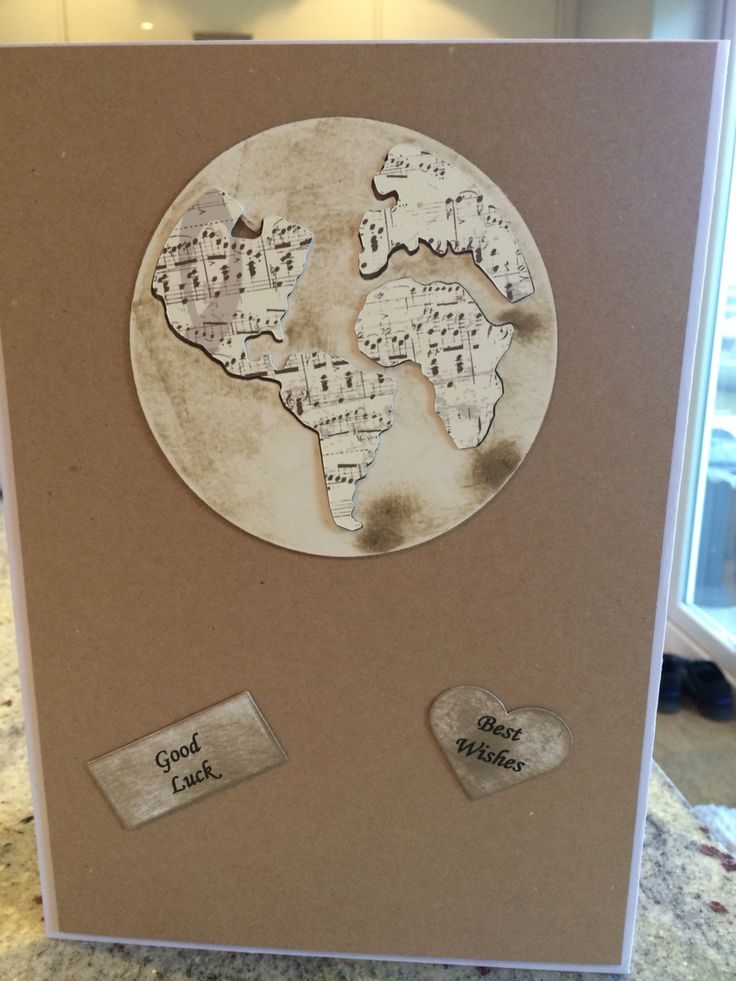 Handmade good luck with your travels card