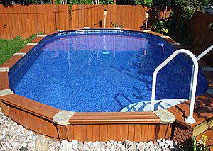 I think wood above ground pools are hot! Look better and cheaper than concrete in ground pools.