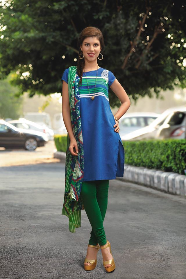 Let us go the #Indian way!   With the #blue and #green, this look promises to make you look #stunning. Shop it here: www.shopforw.com