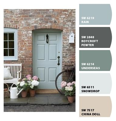 The Door Paint colors from Chip It! by Sherwin-Williams