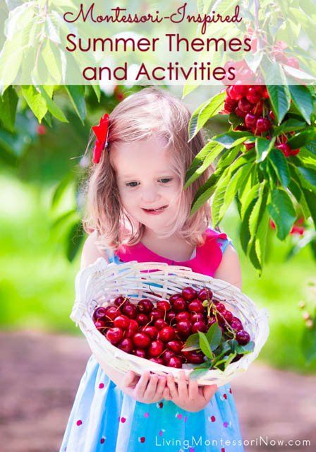 """LOTS of Montessori-inspired summer themes and activities to prevent """"summer slide"""" and continue young children's learning with fun, hands-on activities; activities for toddlers through early elementary"""
