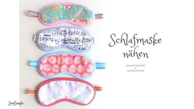 Schnittmuster: Schlafmaske nähen