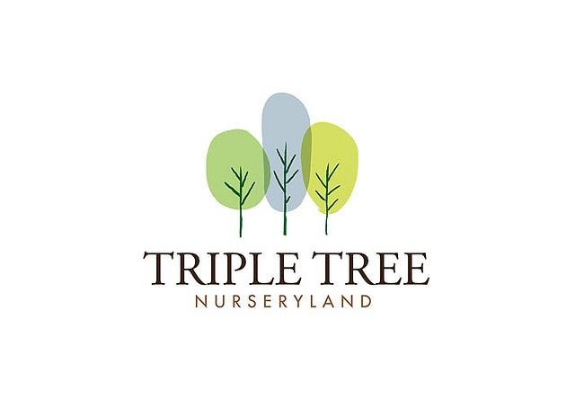 Triple Tree Nursery logo by Cowie and Fox, via Flickr