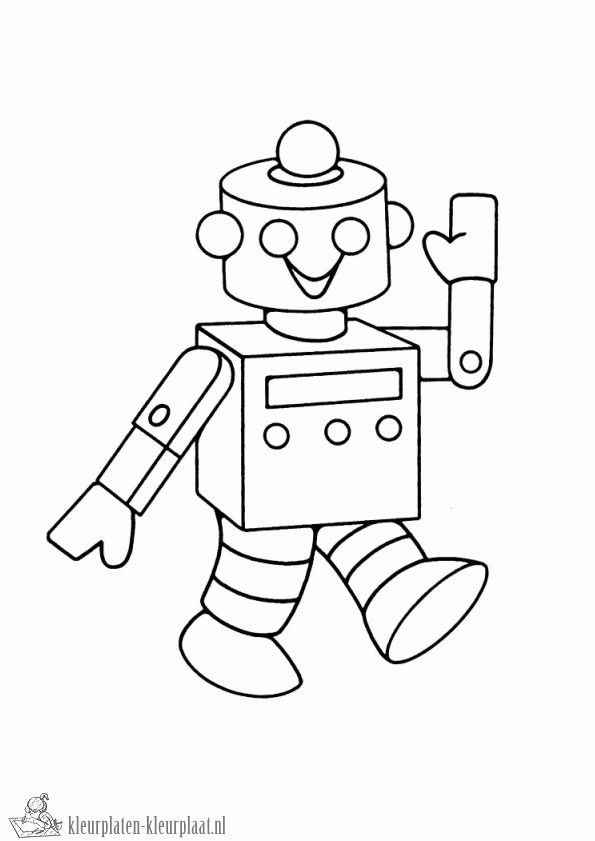 Kleurplaten robot | kleurplaten-kleurplaat.nl