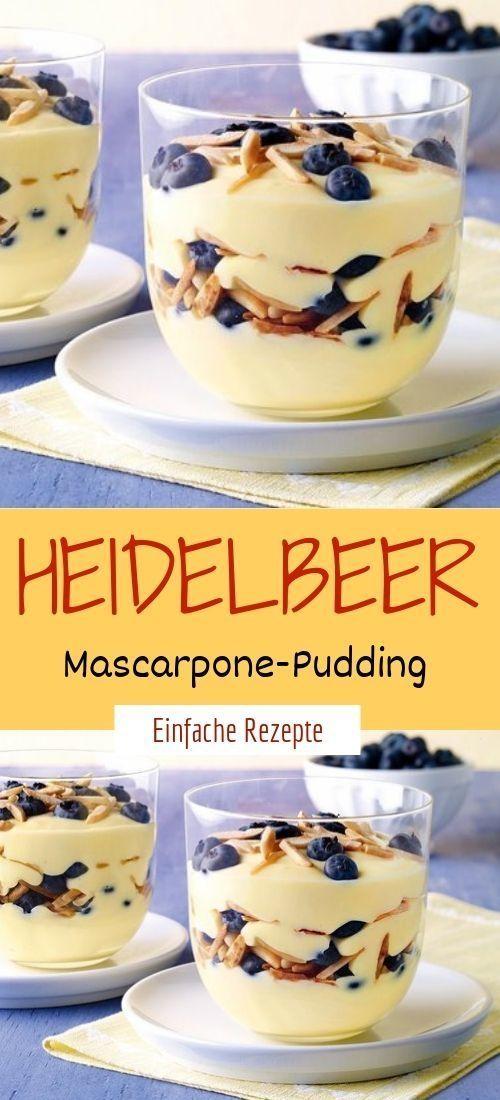 Heidelbeer-Mascarpone-Pudding – Pudding