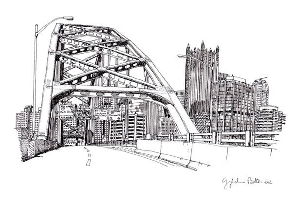 Pittsburgh Fort Pitt Bridge | Guglielmo Botter