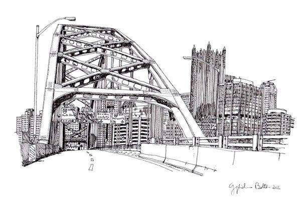 Pittsburgh Fort Pitt Bridge | Guglielmo Botter