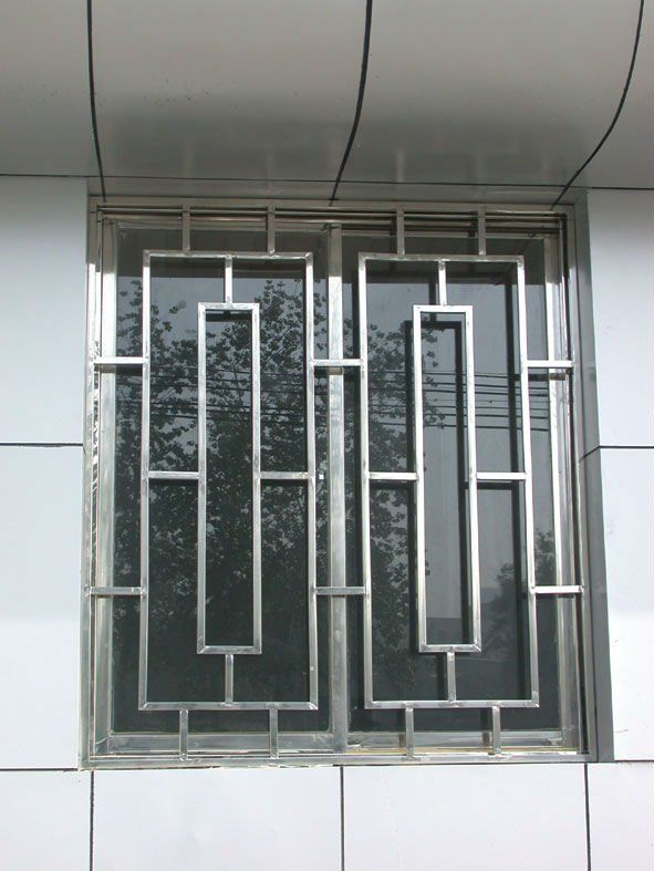 Window grill designs home ideas pinterest beautiful for Front window design in india