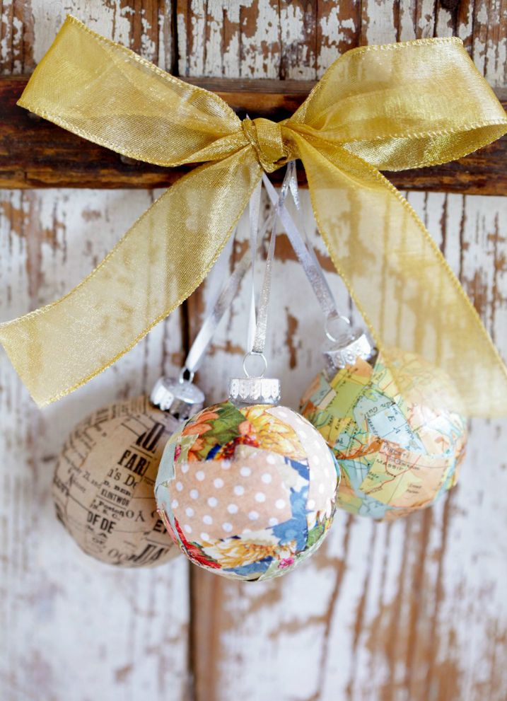 116 best christmas baubles images on pinterest christmas baubles decoupage ornaments why didnt we think of this hobbycraft negle Choice Image